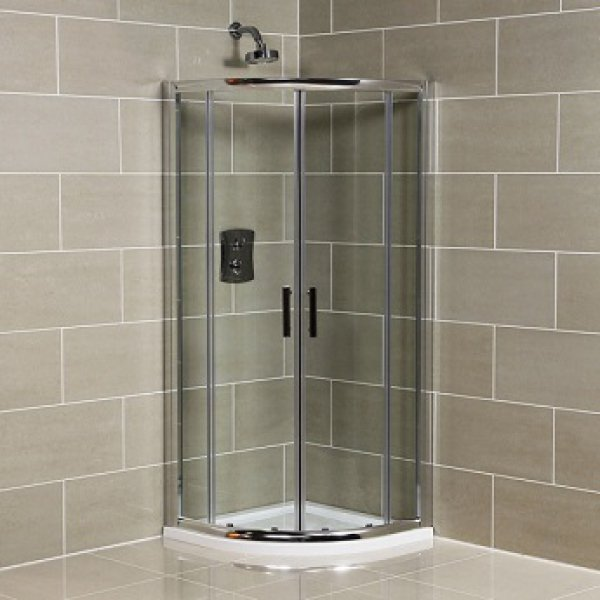 Quadrant Shower Enclosure 6mm Glass no Tray & Waste