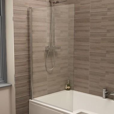 Single Rectangular Bath Screen