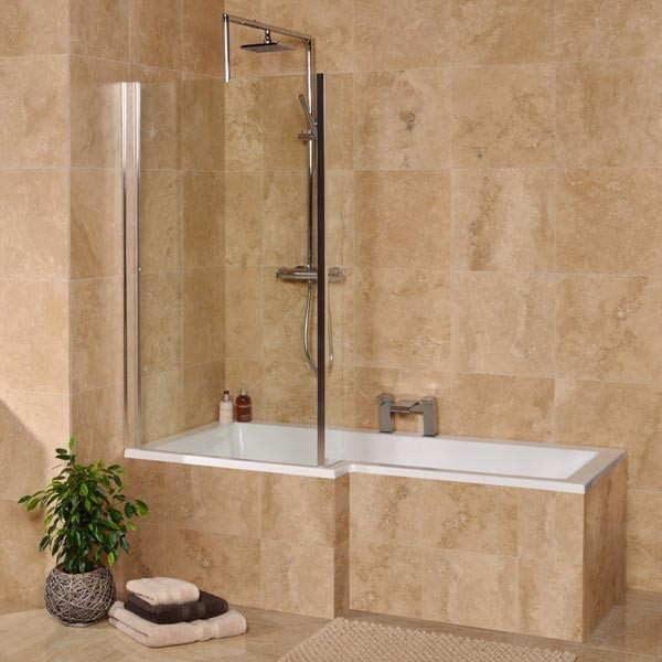 Left Hand Square Shower Bath