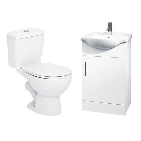 Toilet Basin Vanity Unit Suite