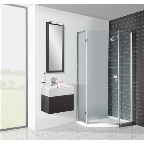 Pentagon Enclosure w/ Shower Tray & Waste