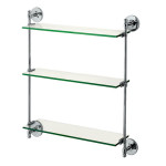 Chrome Triple Glass Shelf