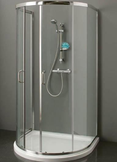 D-Shape Shower Enclosure 900mm x 1000mm