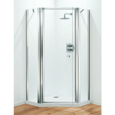 Pentagon Shower Enclosure – Chrome