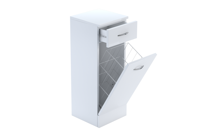 White Floorstanding Laundry Cabinet