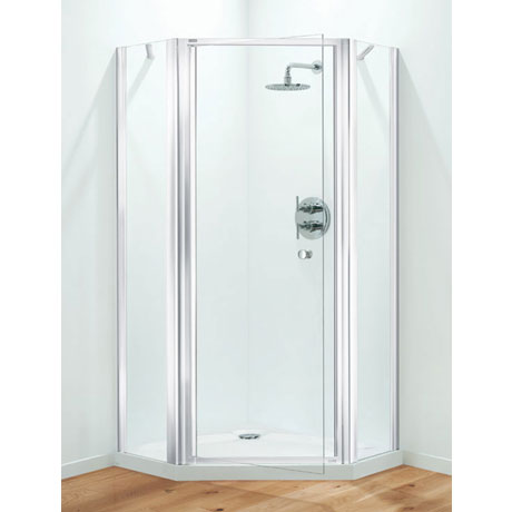 Pentagon Shower Enclosure – White