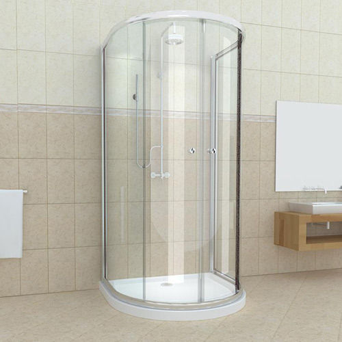 D Shape SmartLine shower with tray and waste