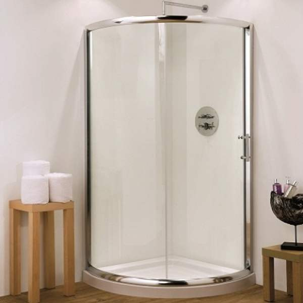 Single Door Quadrant Shower Enclosure 6mm with Tray