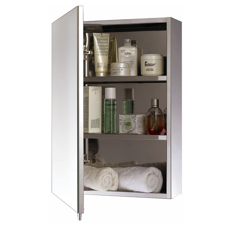One Door Stainless Steel Mirror  Console unit