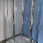 pentagon corner shower tray and enclosure