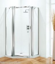 PENTAGON SHOWER DOOR ENCLOSURE BIFOLD DOOR