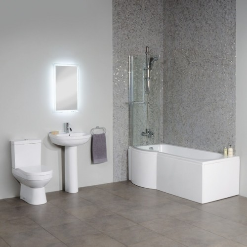 Left Hand P Shape Shower Bath Suite