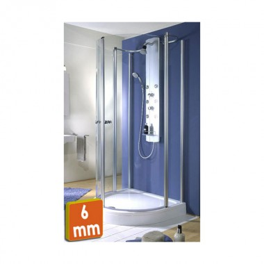 Exklusiv D Shaped Shower Cubicle