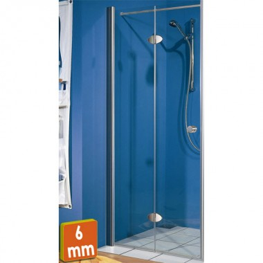 exklusiv pivoting bi fold aquaglass purity 6mm bifold shower door