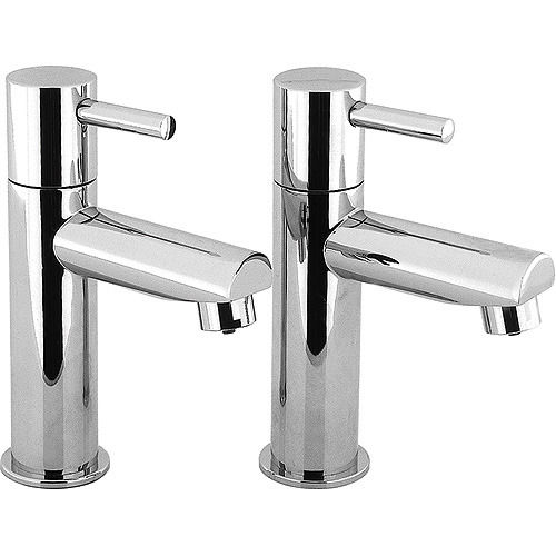 Metro basin pillar taps (pair)