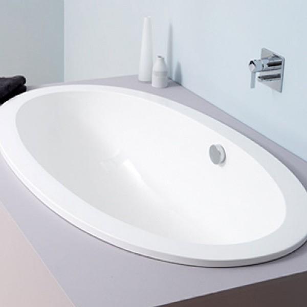 Open Blue Inset Bath
