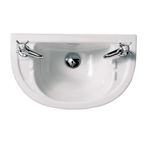 round cloakroom basin