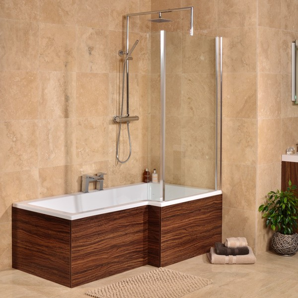Right Hand L Shaped Square Shower Bath