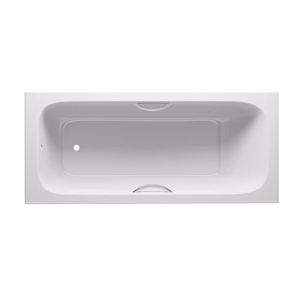 Steel Inset Bath with grips